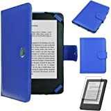 Techgear® Kindle PU Leather Folio Case Cover with Magnetic Clasp for Amazon Kindle eReader with 6Inch Screen [Book Stile] * * with Free Screen Guard included * *