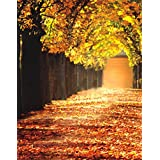 5x7ft Autumn Fall Tree Yellow Leaves Photography Background Computer-Printed Vinyl Backdrops