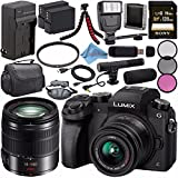 Panasonic Lumix DMC-G7 Mirrorless Camera with 14-42mm Lens (Black) DMC-G7KK + Lumix G Vario 14-140mm O.I.S. Lens + 58mm 3pc Filter Kit + DMW-BLC12 Lithium Ion Battery + Sony 128GB SDXC Card Bundle