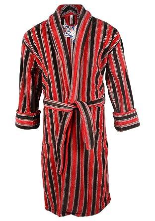 Mens Ely 100% Egyptian Cotton Plush Shawl Collar Luxury Bathrobe - 4XL Red 34c3b561b