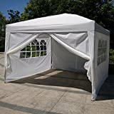 Cheap Party Patio Tent Canopy Heavy duty Gazebo Pavilion Event Canopies BBQ Tent (White, 10'X10′-4PC)