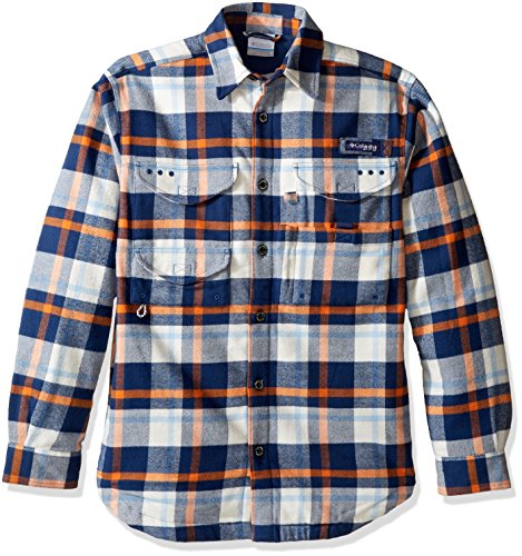 Columbia Sportswear Men's Bonehead Flannel Shirt, Collegiate Navy Plaid, ()