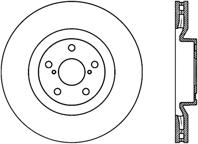 StopTech 125.44171 Premium Brake Rotor Power Slot