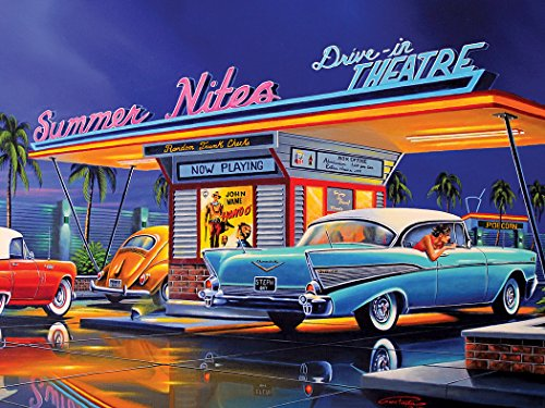 (Summer Nites 500 pc Collector Art Puzzle By Artist Geno Peoples)