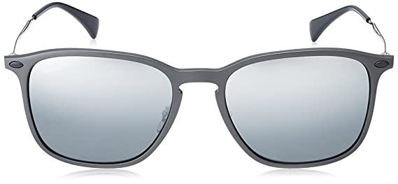 6aa51a2d26 Amazon.com  Ray-Ban 0rb8353 Polarized Oval Sunglasses BLACK GRAPHENE 55.7  mm  Clothing