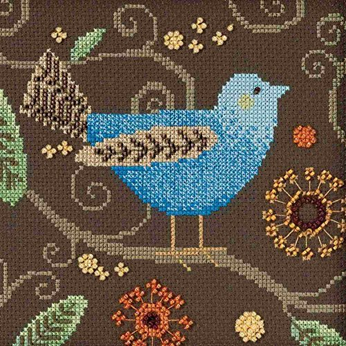 Debbie Mumm Collection - Blue Bird Beaded Counted Cross Stitch Kit Mill Hill 2018 Debbie Mumm Out On A Limb Collection DM301811