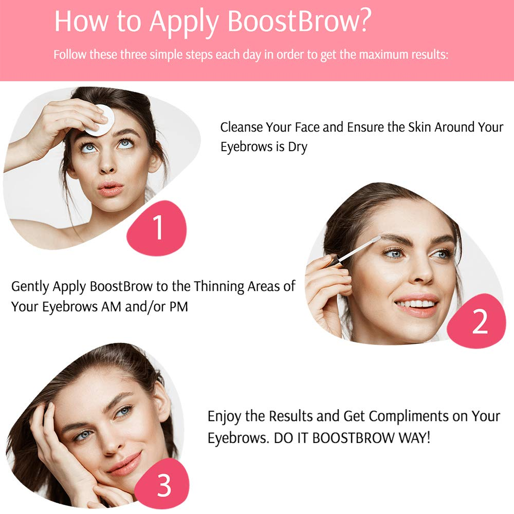 BoostBrow - Eyebrow Growth serum 7.5ml, Grows Longer Thicker Fuller & 3X Healthier Brows (in 30 days), Proudly Made in USA by Boostlash (Image #4)