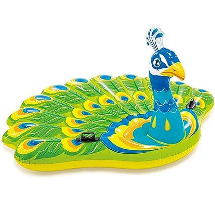 WeeLion Flotador de la Piscina del Unicornio Gigante del Pavo Real, Flotador Inflable para Adultos