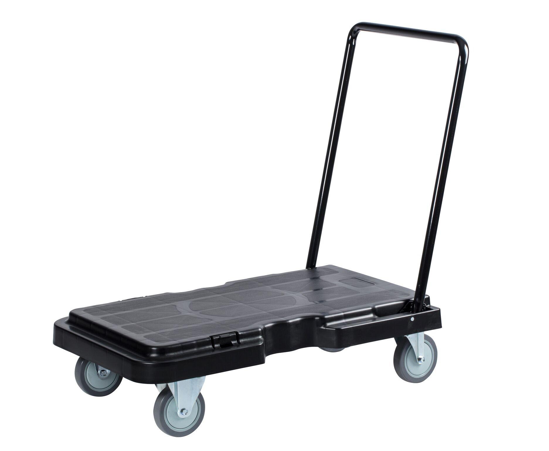 Janico 1059 Folding Platform Cart - Industrial Dolly Foldable Moving Warehouse Push Hand Truck, Black by Janico