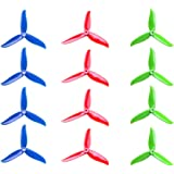 "DALPROP T5045C CYCLONE Tri-blade Propeller 5"" CW/CCW 5045 Prop for FPV Racing Quadcopter Frame Kit like iFlight iX5 200mm (Total 12pc=3sets)"