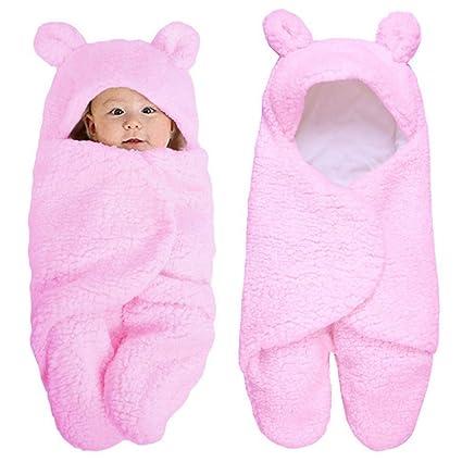 Miyanuby Saco de Dormir para Bebés, Suave y Cálido Franela de Invierno Sacos para dormir