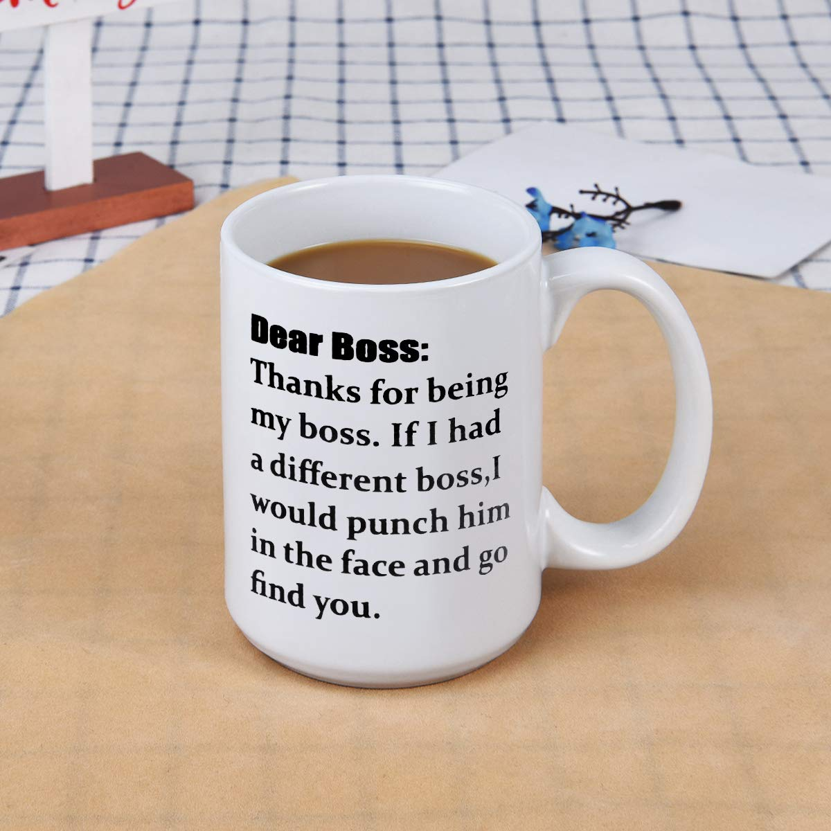 World/'s Best Boss-11 oz Funny Ceramic Mugs Coffee Cup Novelty Gift Present Idea for Male Female Bosses Coworkers Men Man Coffee Mug With Dunder Mifflin