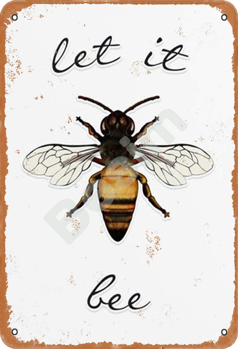 Tin Sign Save The Bees Blue 10 x 15cm