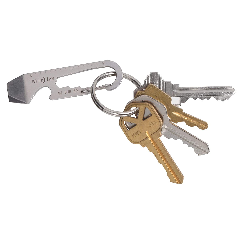 Nite Ize DoohicKey Key Tool Steel Keychain Multi-Tool w//Key Ring Clip 4-Pack