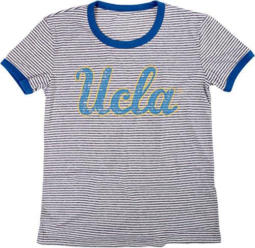 - NCAA UCLA Bruins Women's Tri-Blend Retro Stripe Ringer Shirt, X-Large, Royal