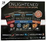 Enlightened The Good for You Crisp Roasted Broad Beans Variety Pack, Sea Salt/Sriracha/Mesquite BBQ, 24 Count