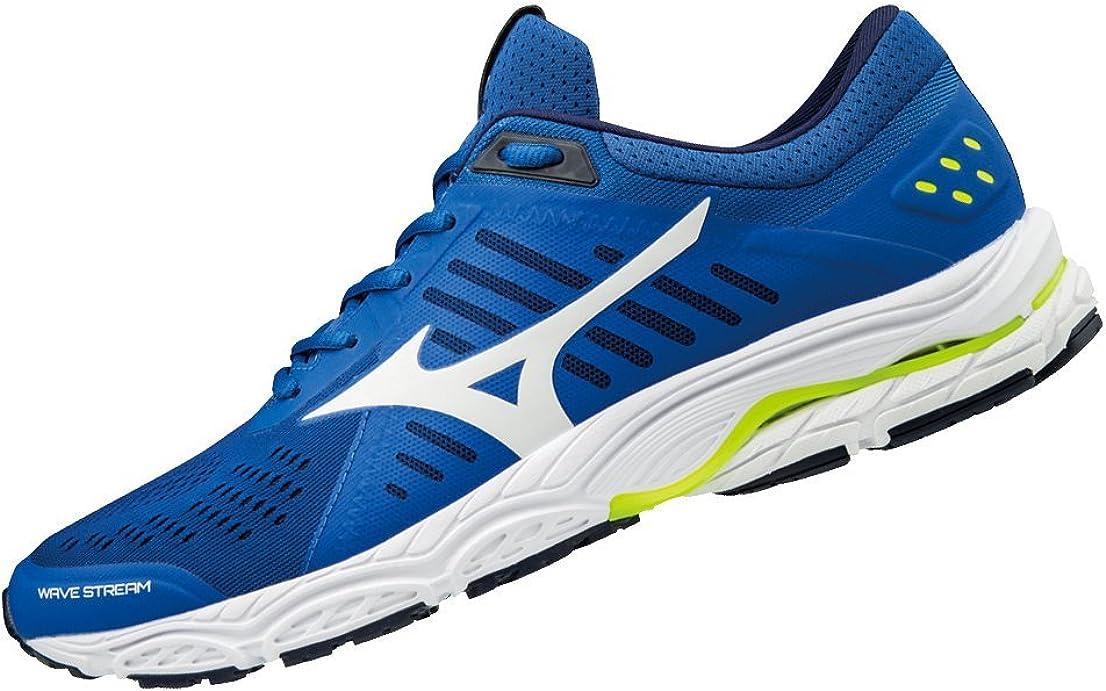 Mizuno Wave Stream, Zapatillas de Running para Hombre, Multicolor (Classicblue/White/safetyyellow 01), 44.5 EU: Amazon.es: Zapatos y complementos