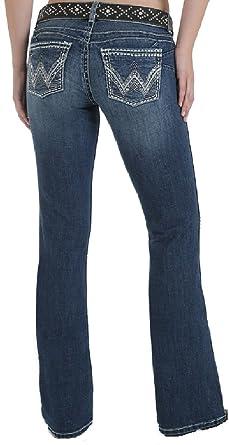 c951d68c Womens Wrangler Premium Patch Sadie Ultra Low Rise Jeans 08MWZTS at Amazon  Women's Jeans store