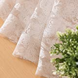 jinchan Sheer Curtain for Living Room Taupe