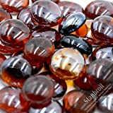Stanbroil 10-Pound 1/2 Inch Fire Glass Drops for Fireplace Fire Pit, Amber Luster