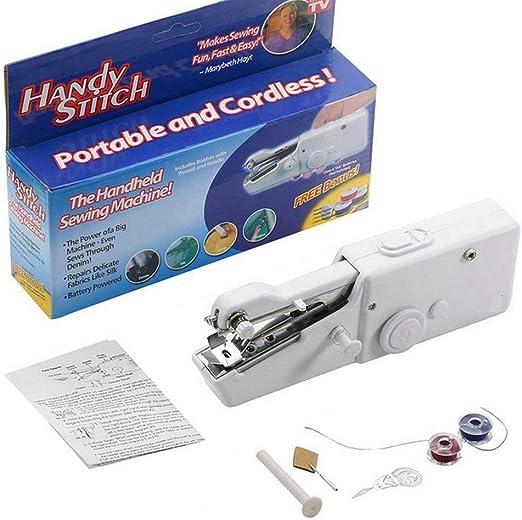 Decdeal Mini máquina de coser a mano eléctrica portátil reparación ...