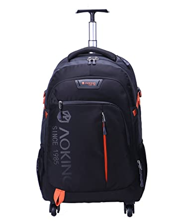5a2867b318 AOKING 20 22 Inch Water Resistant Travel School Business Rolling Wheeled  Backpack with Laptop Compartment