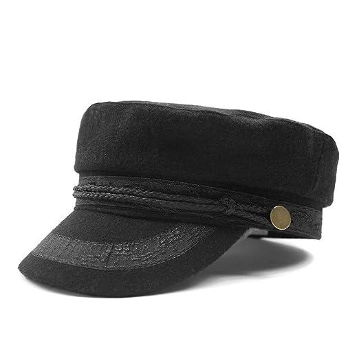 b5f4de4dc8d97d Baker boy Cap Boy Hats Navy Women Military Hats British Style Newsboy Flat  Cap Vintage Woolen Lace Brand 2018 New Army Cap at Amazon Women's Clothing  store: