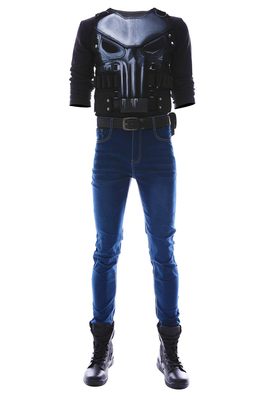 centro comercial de moda Azul Azul Azul personalización MingoTor The Punisher Season 2 Frank Castle Outfit Disfraz Traje de CosJugar Ropa personalización  solo cómpralo
