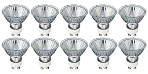Pack of 10 Bulbs 35 Watt GU10 Halogen Bulb 120 Volt GU10 Halogen Light Bulb