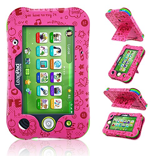 LeapPad Ultimate Case, ACdream Leather Tablet Case for LeapPad ACdream Kids Learning Tablet(2017 release), (Pink Pattern) by ACdream