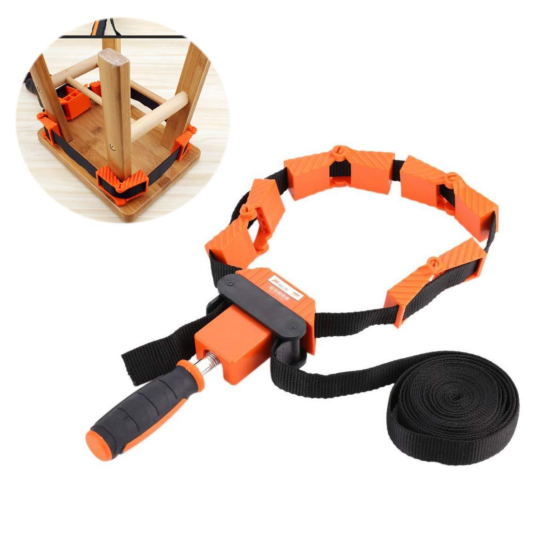 Multifunktionsrahmen Bandspanner Spannklemme Bandzwinge Rahmen-Bandspanner mit 4 Spannbacken und 4-Meter-Nylonband fü r die Holzbearbeitung GOTOTOP