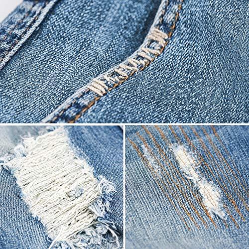 Stretch Primavera Jeans Moda Size Buco Harem Strappato Donna Donn Rlwfjxh 5l Caviglia Allentato Vita Metà Plus Sbiancato Vintage qOxnEwd