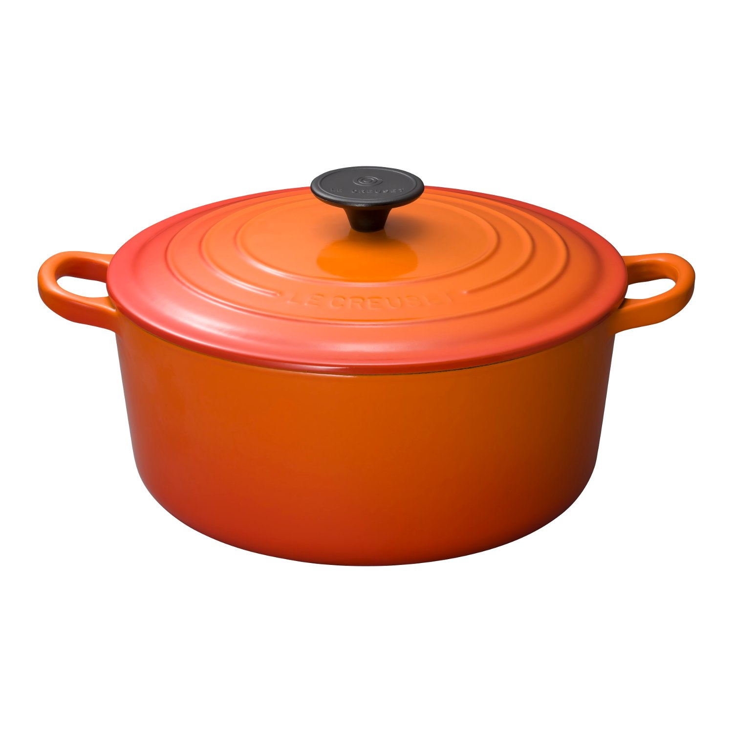Le Creuset Enameled Cast-Iron 4-1/2-Quart Round French Oven, Flame