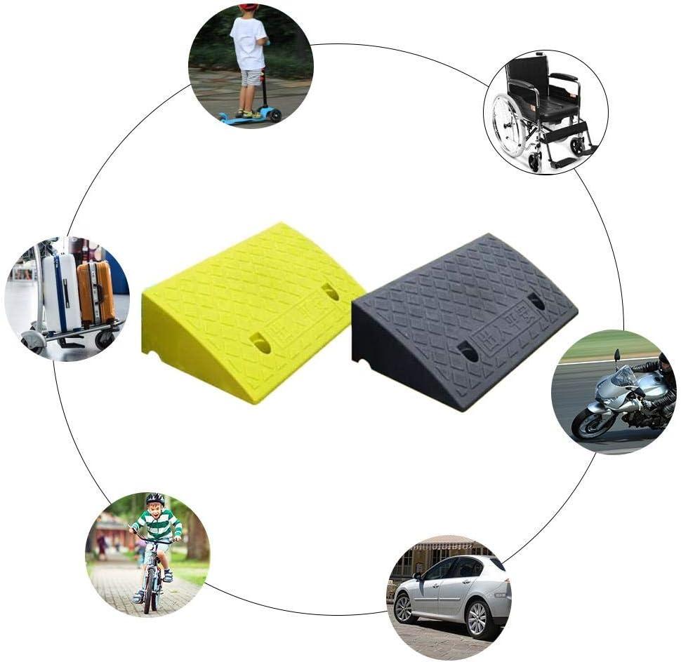 Rampa per cordoli Pesanti Rampe per cordoli in plastica Leggera Portatile Kit di rampa Antiscivolo a Plaid per la Tua Auto Carrello per Camion RV o Carrello a Mano