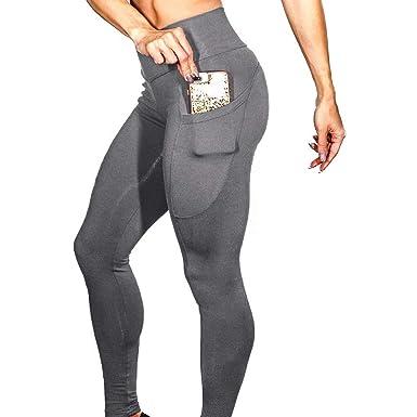 Pantalones de Yoga de Cintura Alta para Mujer Quealent para ...