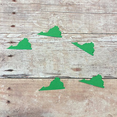 Virginia Vinyl Stickers, Virginia Decorations, Rustic Party Supplies, State Decorations, Party Supplies, Virginia Cut Out, Stickers
