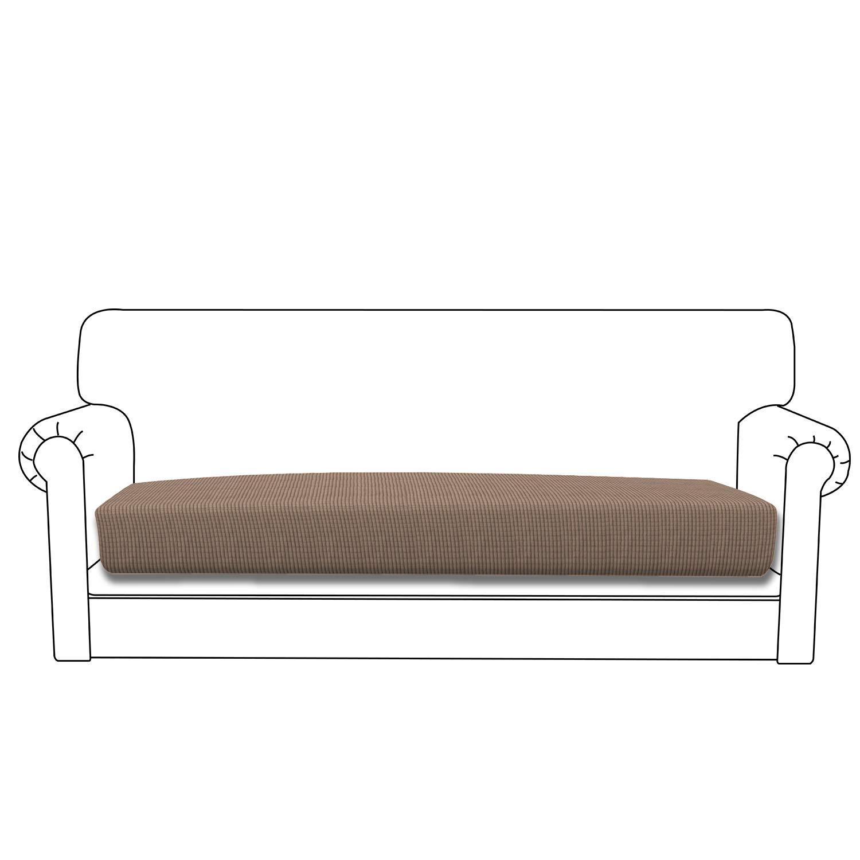 Easy-Going Stretch Cushion Cover Sofa Cushion Furniture Protector Sofa Seat Sofa slipcover Sofa Cover Soft Flexibility with Elastic Bottom(Sofa Cushion,Camel)