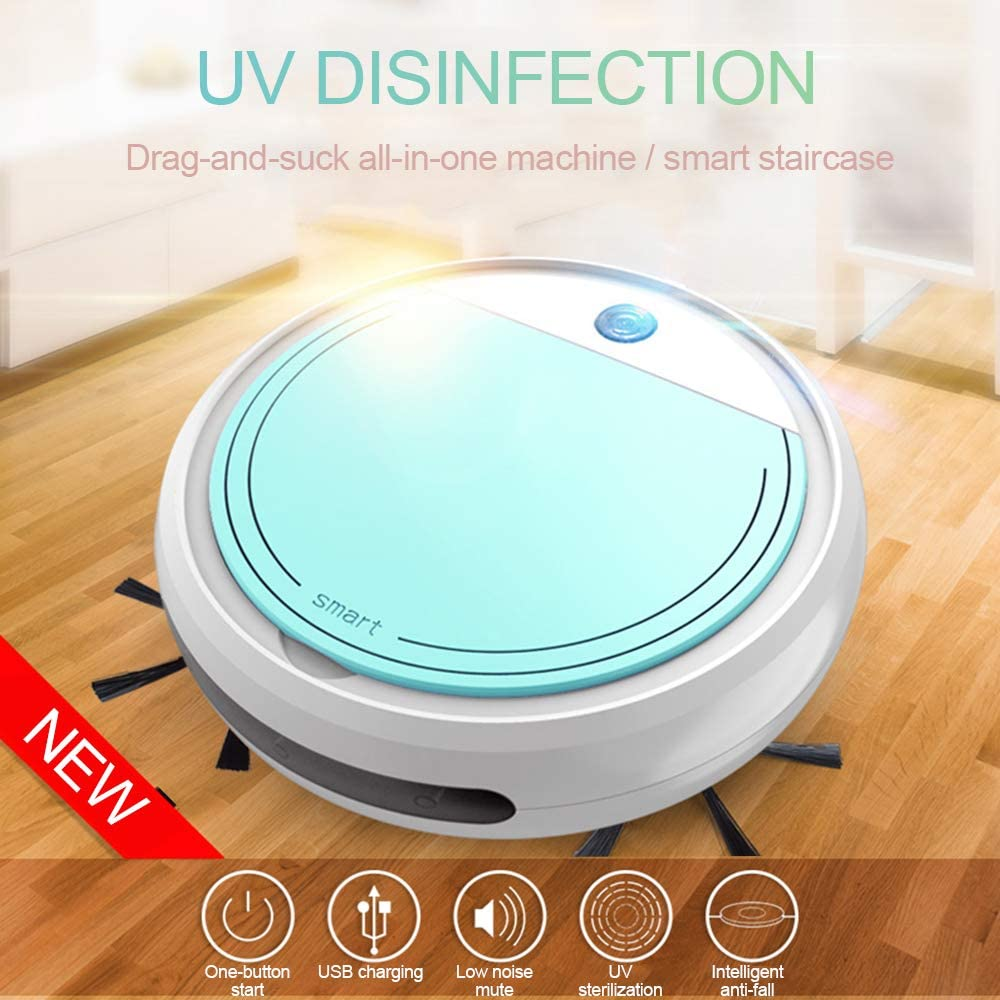 4in1 Smart Sweeping Robot with UV Disinfection Mopping And Washing Sweep Function Automatic Multisurface Bagless Floor Cleaner AAERP Robot Vacuum Smart Robot Vacuum Sweeper Cleaner