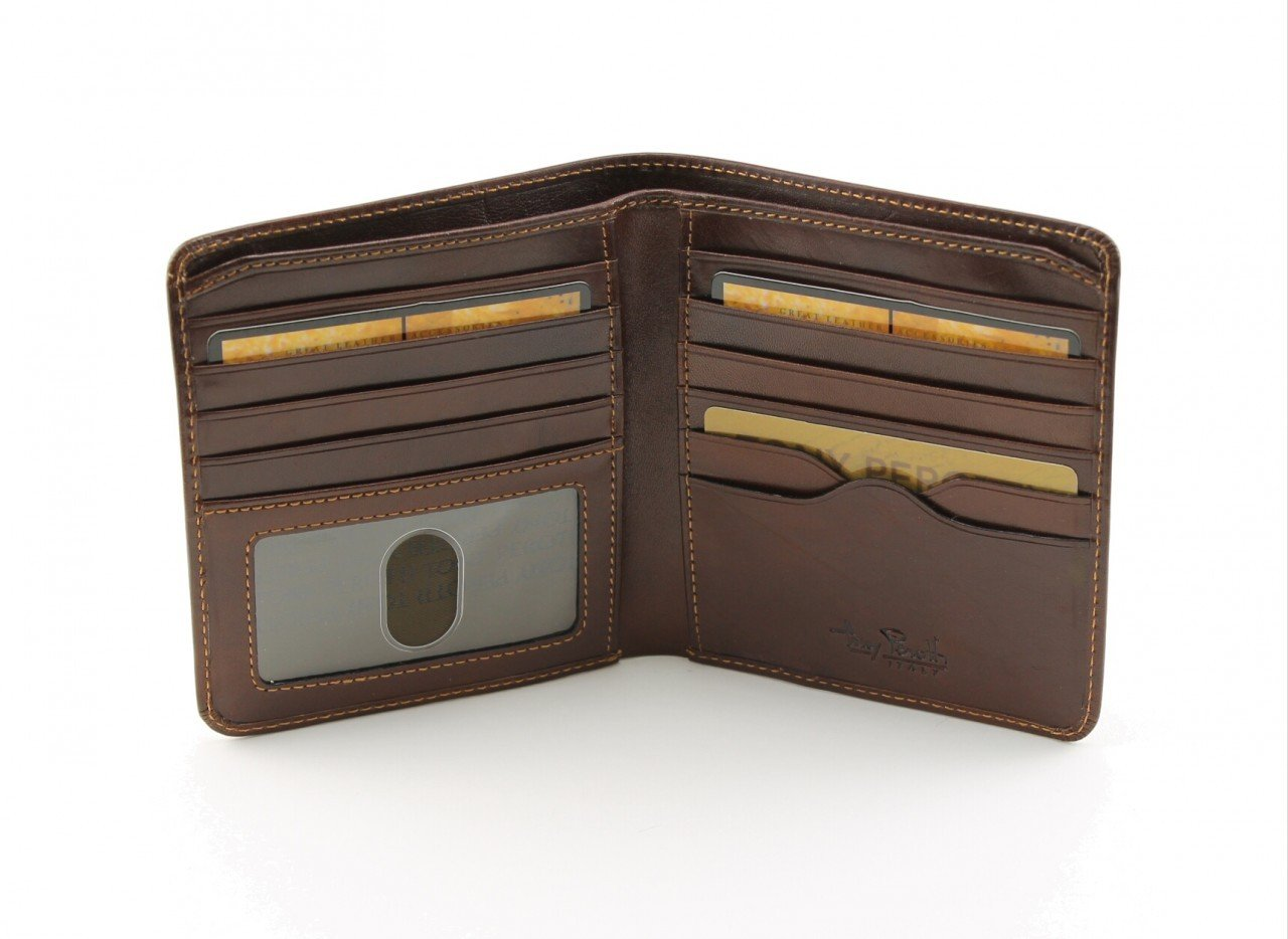 Tony Perotti Italian Leather Classic Hipster Bifold Wallet With Id Window,cognac Bi-Fold Wallet, Cognac by Luggage Depot USA, LLC (Image #2)