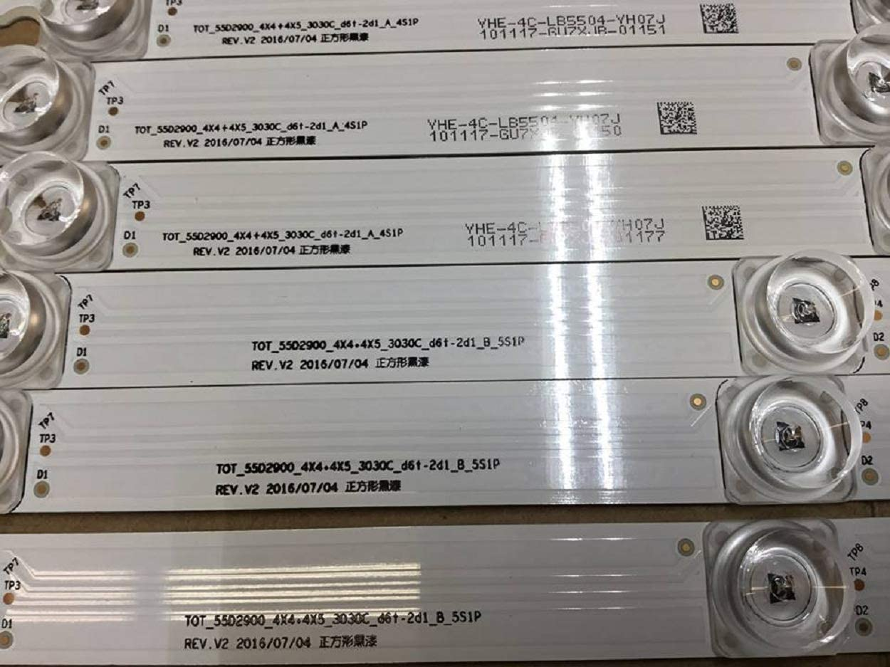 8 Strips TCLs YHB-4C-LB5505-YH07J Backlight LED Strip for 55S405