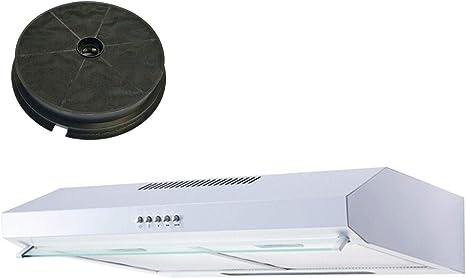 SIA VSR60WH - Campana extractora de cocina con visera blanca y filtro de carbono (60 cm): Amazon.es: Grandes electrodomésticos