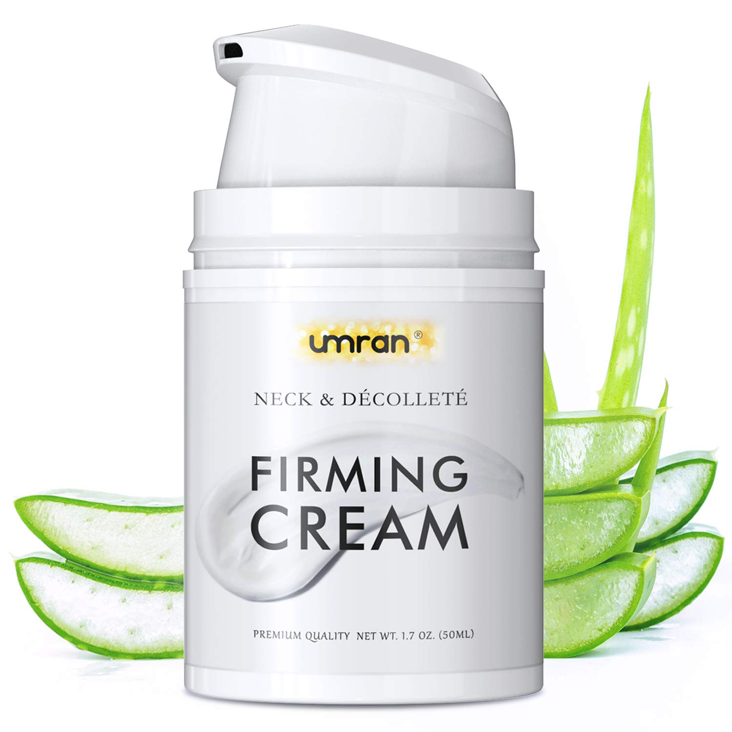 Neck Firming Night Cream For Tightening Lifting Sagging Skin, UMRAN Crepe Neck & Chest Firming Cream, Reducing Wrinkles and Tightening Skin, Anti Aging Moisturizer for Neck & Décolleté, Turkey Neck Firming Cream with Natural Collagen, Aloe Vera, Skin Repair Treatment: Beauty