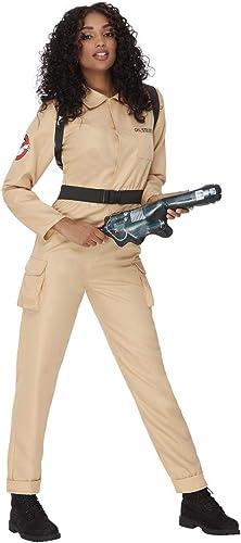 Smiffy's Smiffys Officially Licensed Ghostbusters Ladies Costume Smiffys Disfraz de Cazafantasmas con licencia oficial Mujer