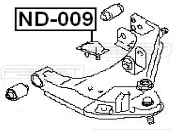 Amazon Com Febest Nd 009 Front Bumper Spring Automotive