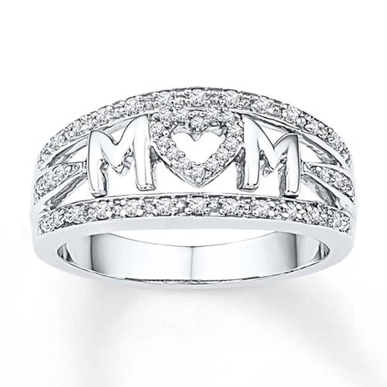 Beuu Mother S Day Birthday Gift Love Mum Diamond Ring Jewelry Best