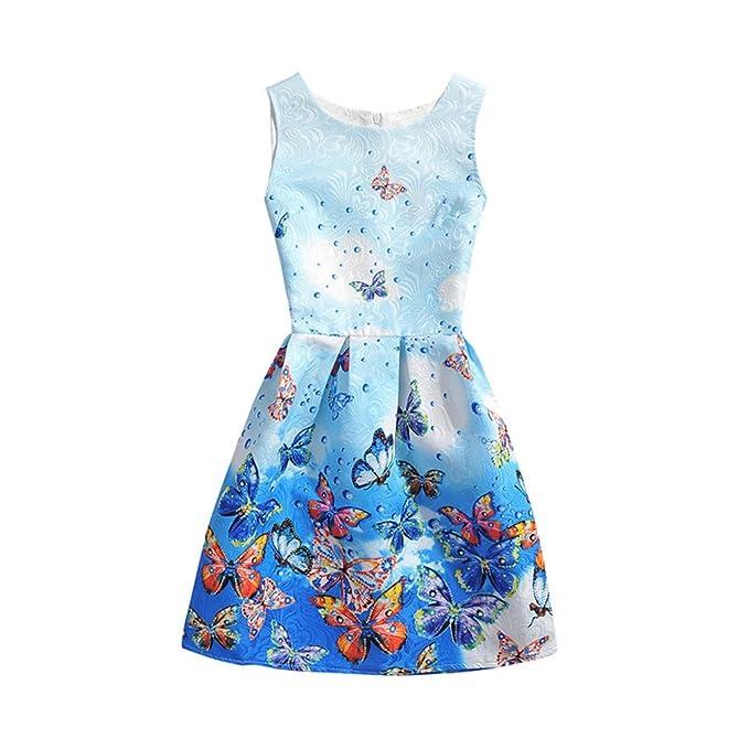 SuoLaKeXi - Vestido de fiesta para niña, diseño de flores y