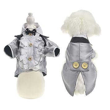 Amazon.com: FLAdorepet Camisa de boda para perro real, traje ...