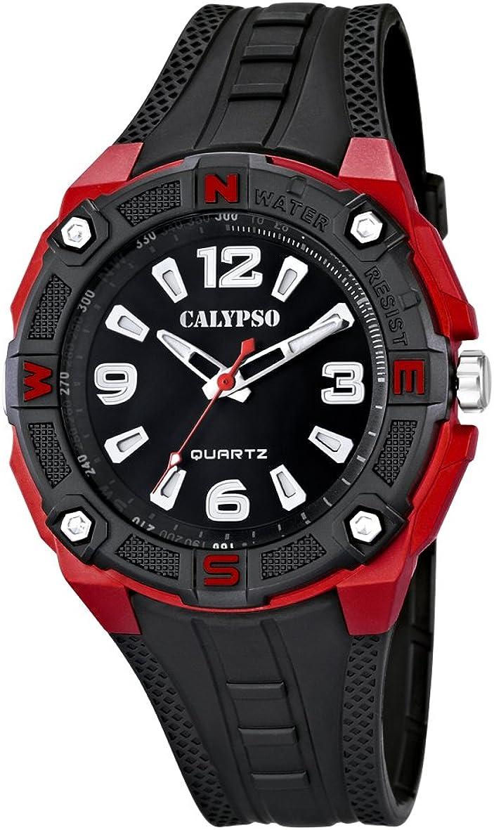 Calypso Reloj Analógico para Hombre de Cuarzo con Correa en Plástico K5634/4