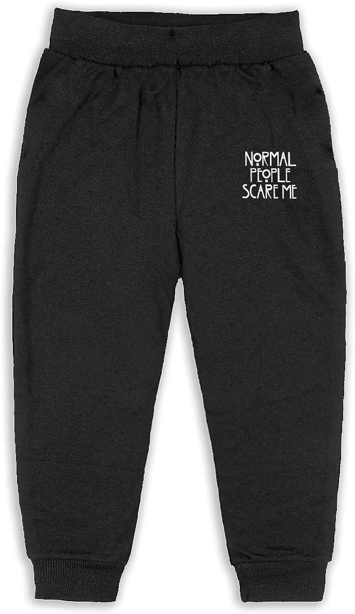 Child GHYNJUM Normal People Scare Me Unisex 2-6T Autumn Winter Cotton Fashion Sweatpants