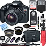 Canon EOS Rebel T6 Digital SLR Camera Wifi + EF-S 18-55mm IS STM Lens Kit + Accessory Bundle 32GB SDXC Memory + DSLR Photo Bag + Wide Angle Lens + 2x Telephoto Lens + Flash + Remote + Tripod & More